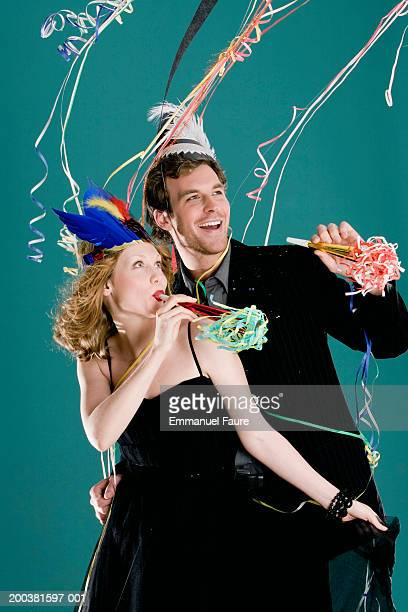 Young couple celebrating New Year's
