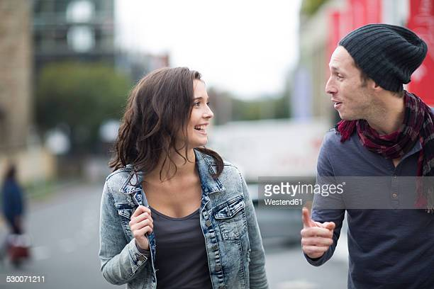 Young couple communicating