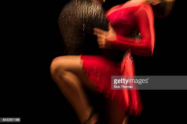 Young Couple Dancing The Tango - Motion Blur - Slow Shutter Speed