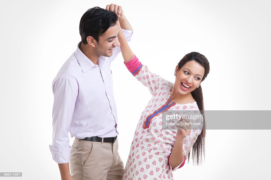Young couple dancing together : Stock Photo
