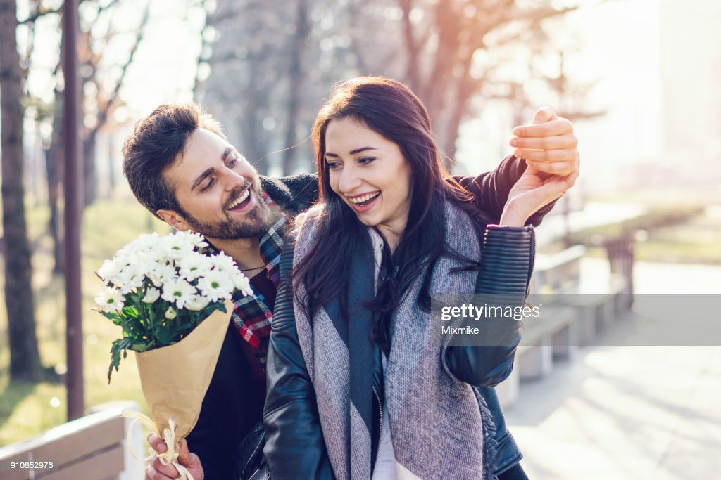Young couple dating : Stock Photo