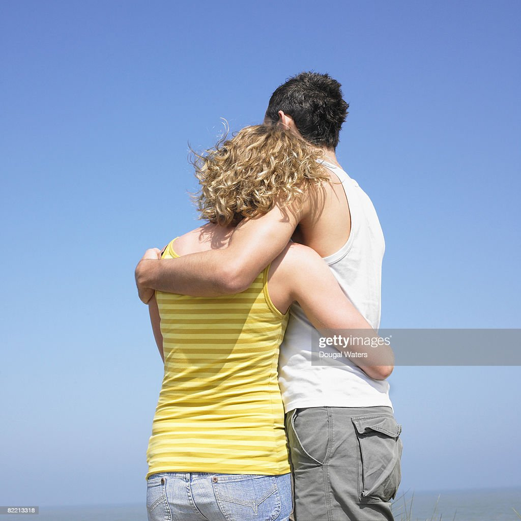 Young couple embracing a : Stock Photo