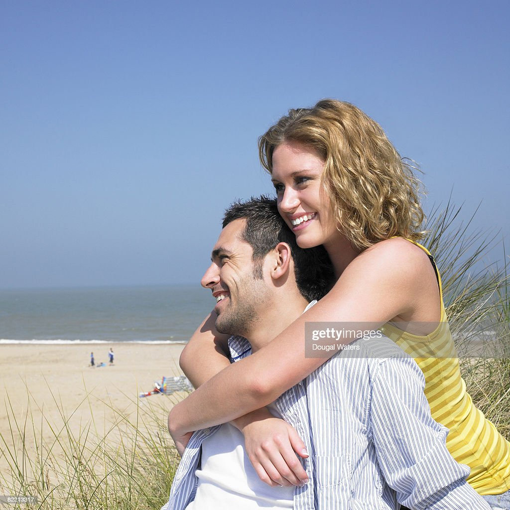 Young couple embracing each other at : Stock Photo