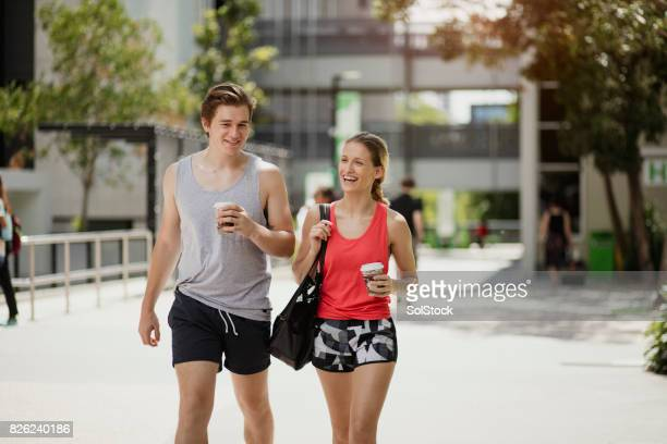 Young Couple Enjoying City Life