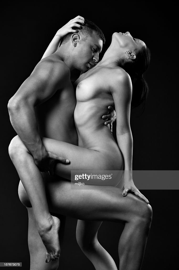 Young couple enjoying in passionate sex : Stockfoto