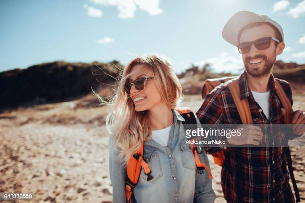 Young couple enjoying spring adventure