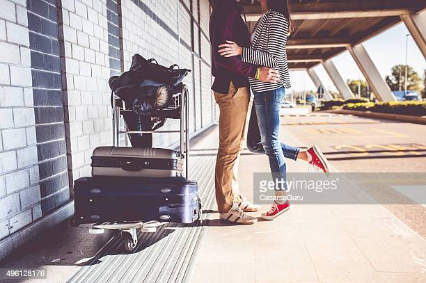young couple exploring the city - kissing stock pictures, royalty-free photos & images
