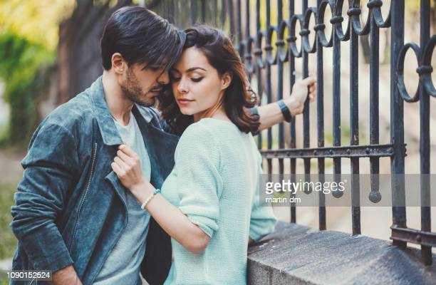 young couple falling in love - sensuality stock pictures, royalty-free photos & images