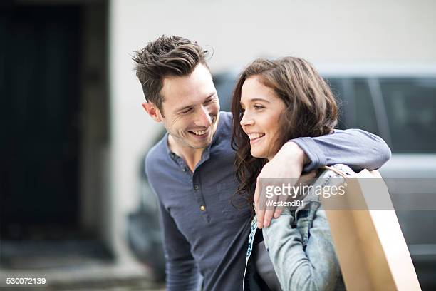 Young couple going shopping