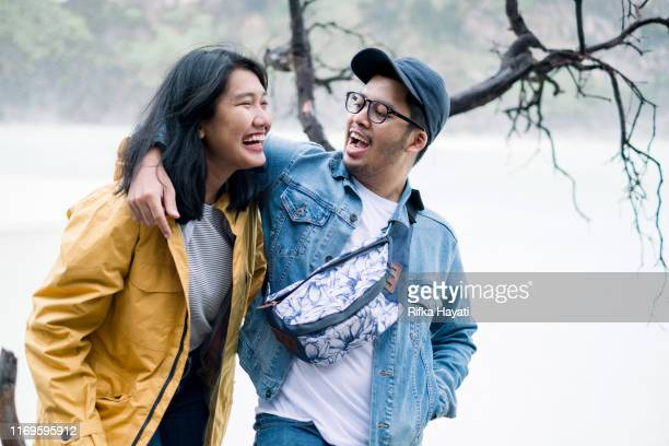 young couple happy moments - bandung stock pictures, royalty-free photos & images