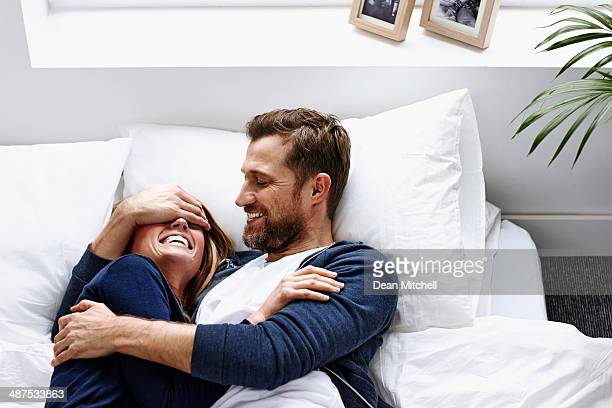 Young couple having a good time - Indoors