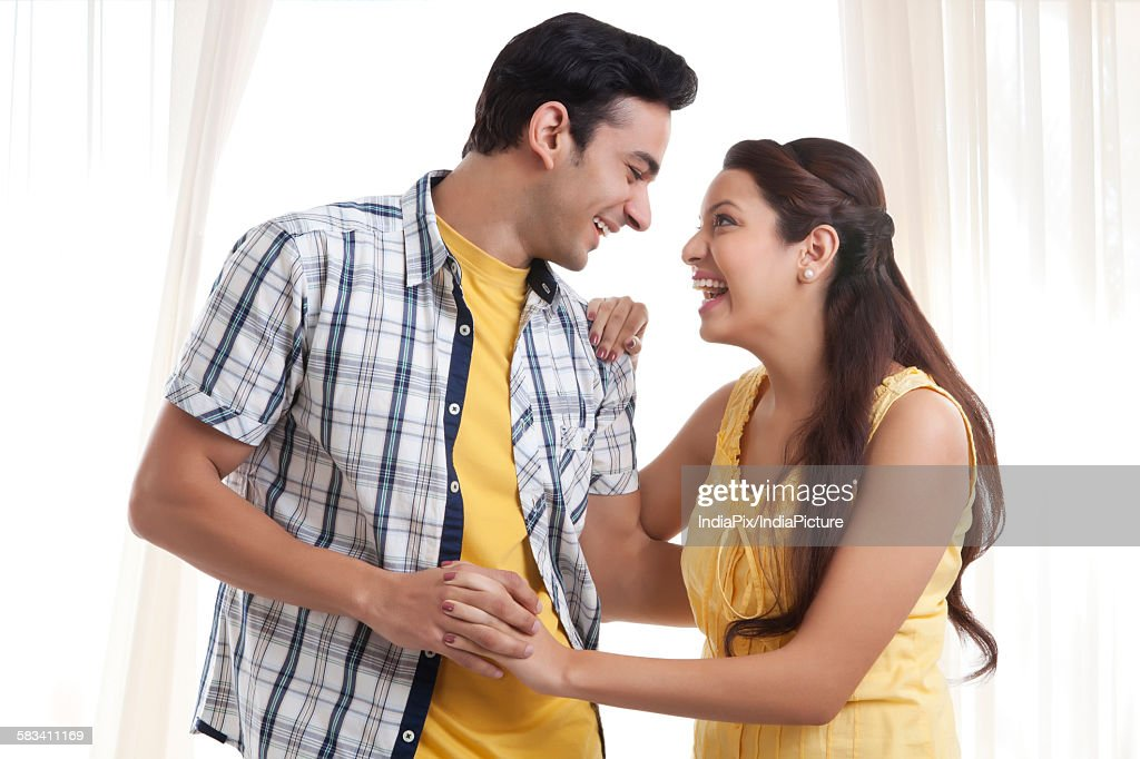 Young couple having fun : Stock Photo