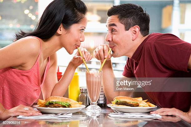 Young Couple Having Lunch