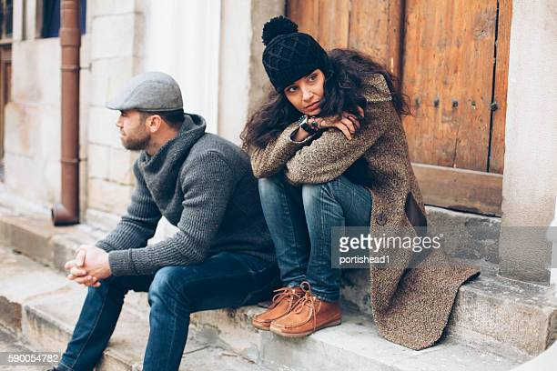 Young couple having relationship difficulties