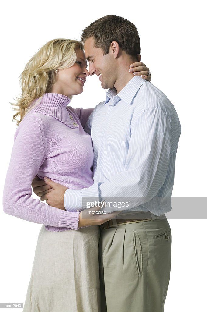 Young couple holding each other : Foto de stock