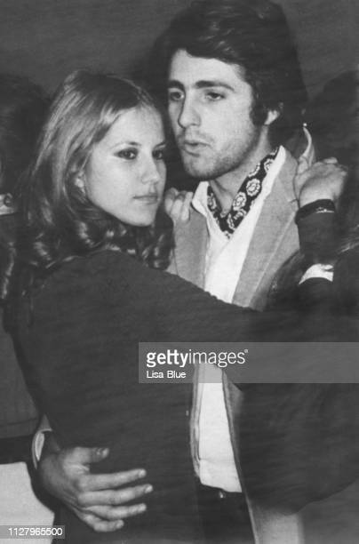 young couple in 1970. black and white. - retrato formal stock pictures, royalty-free photos & images