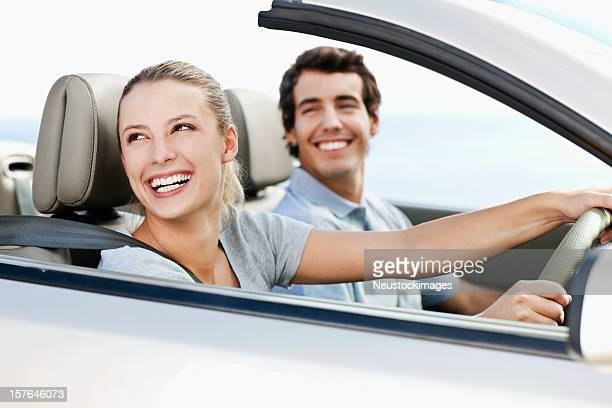 Young Couple in a Convertible