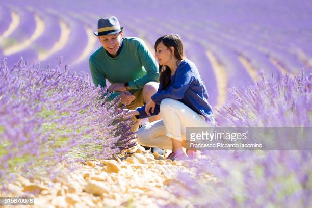 Young couple in a lavender field, Provence, France