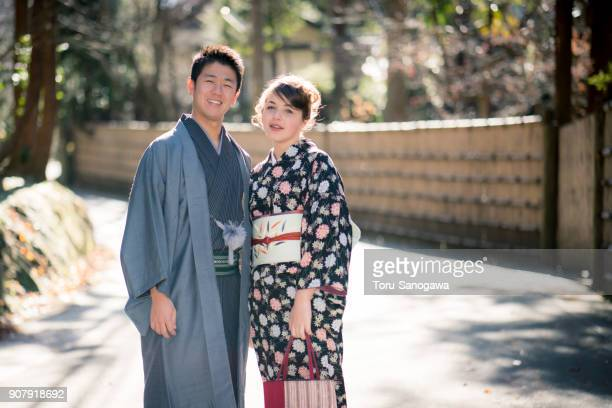 Young couple in Kamakura
