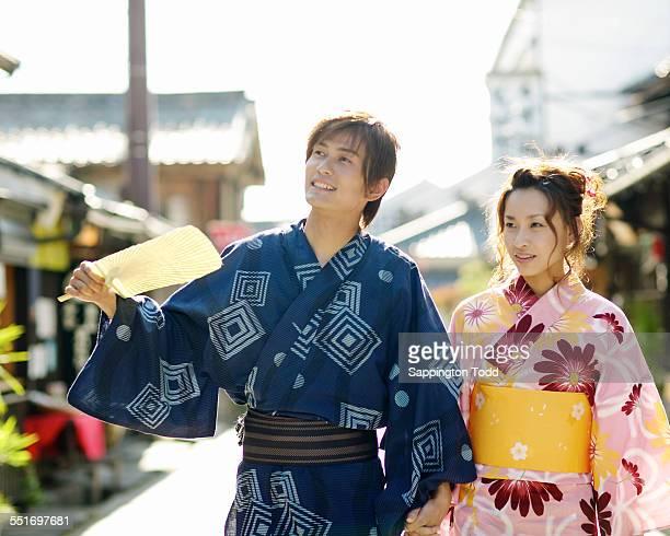 Young Couple In Kimono