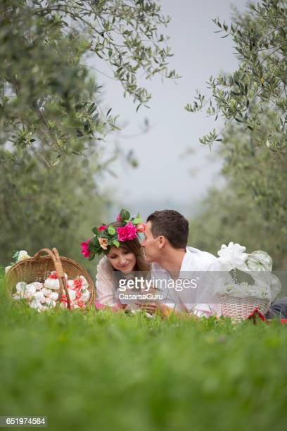 Young Couple In Love During Wedding Preparation