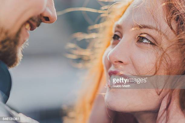young couple in love. - love emotion stockfoto's en -beelden