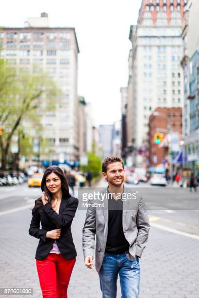 Young couple in New York City