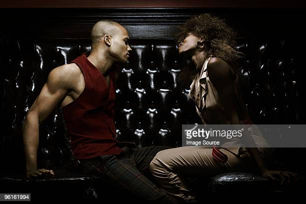 Young couple in nightclub
