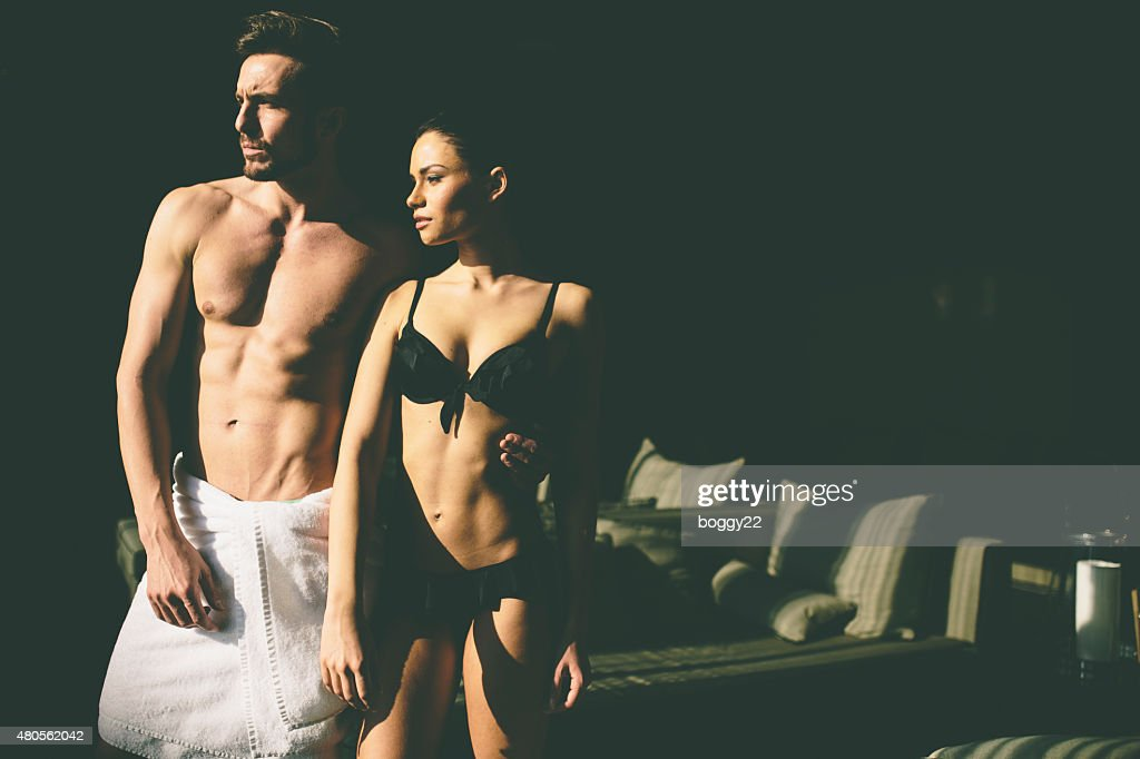 Young couple in the room : Stock Photo
