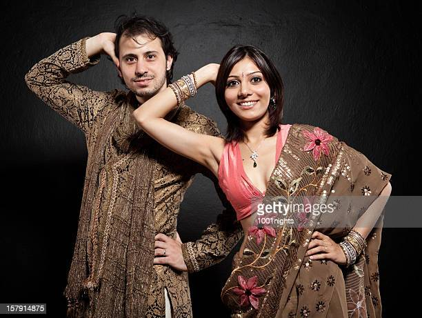 Young couple in traditional Indian clothes