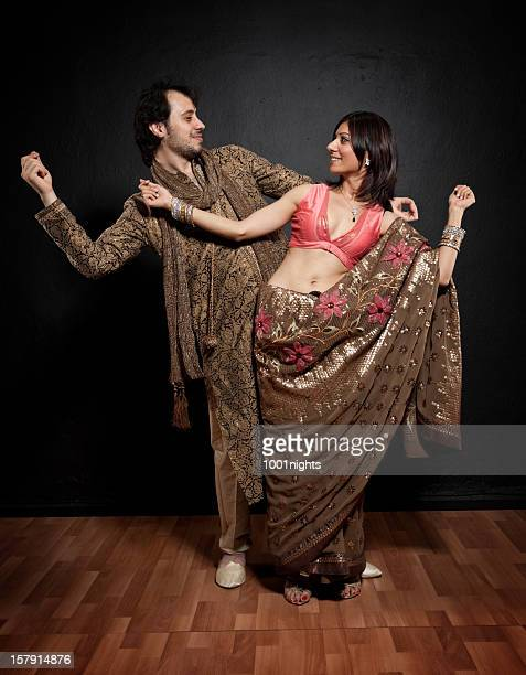 young couple in traditional indian clothes - kurta stock pictures, royalty-free photos & images
