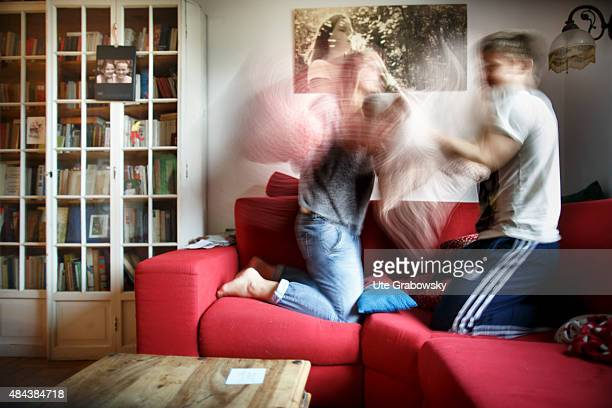 A young couple is fighting with each other on August 10 2015 in Bonn Germany