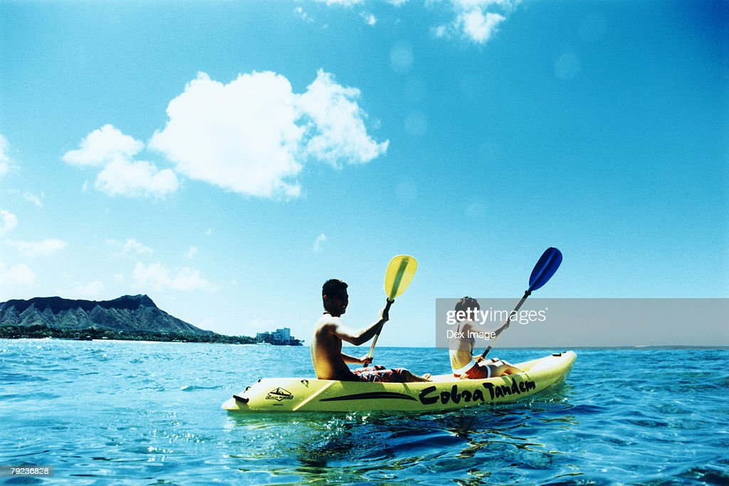 Young couple Kayaking : Stock Photo