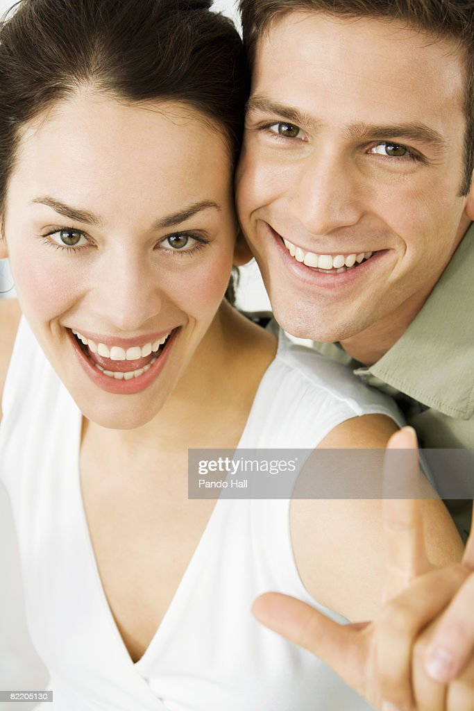 Young couple, laughing : Stock Photo