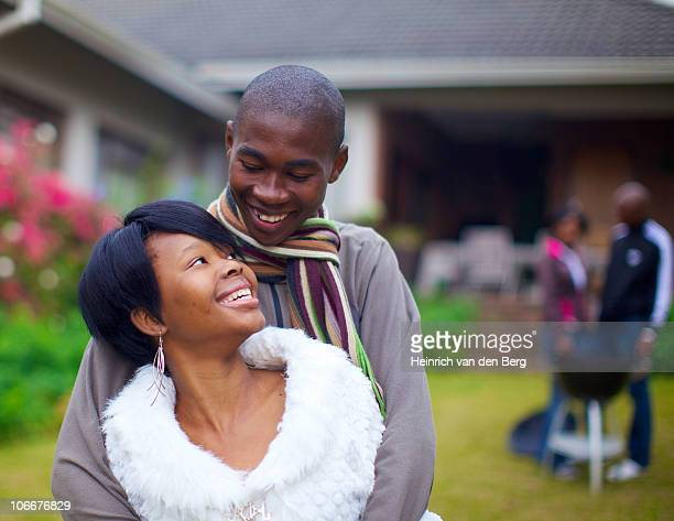 young couple looking at each other, kwazulu-natal, south africa - pietermaritzburg stock pictures, royalty-free photos & images