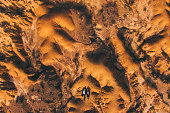 Young couple lying on desert