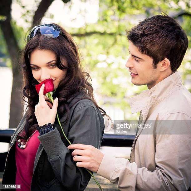 Junges Paar auf ein Datum