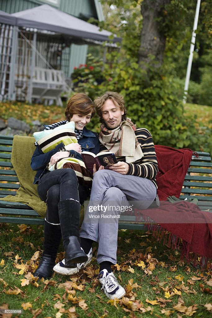 A young couple on a picnic Sweden. : Stock Photo