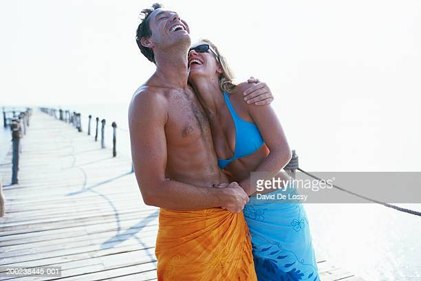 Young couple on a pier