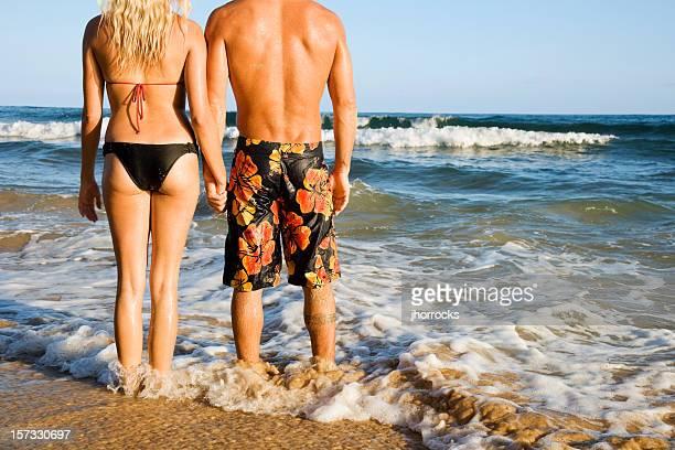 Jovem Casal na praia