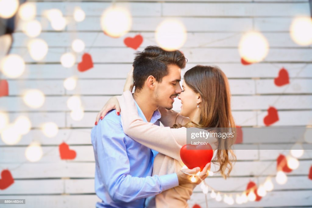 Young couple on Valentine's Day. : Stock Photo