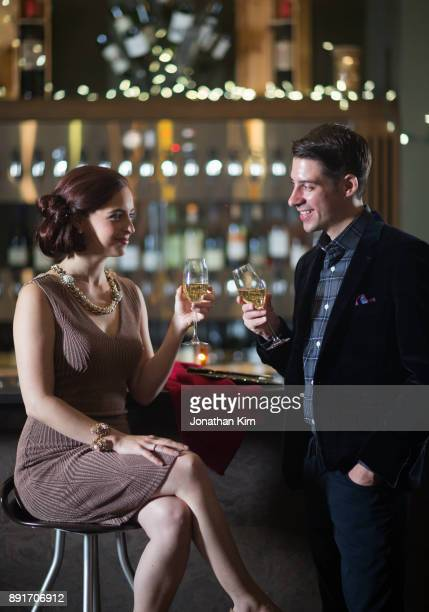 Young couple out on the town.