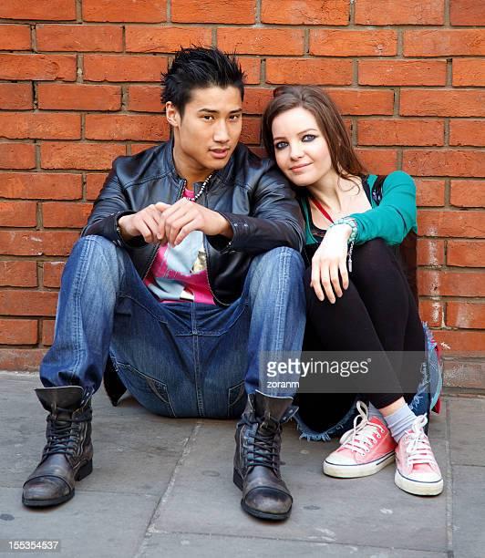 若いカップル - ロンドン ソーホー ストックフォトと画像