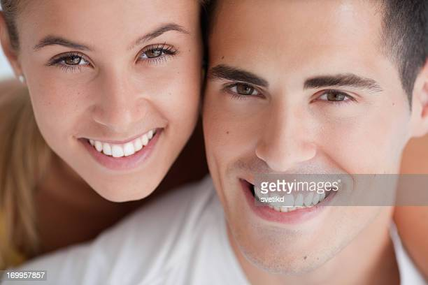 young couple - teeth stock pictures, royalty-free photos & images
