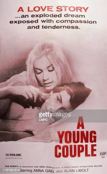 A Young Couple poster US poster from left Anna Gael Alain Libolt 1969