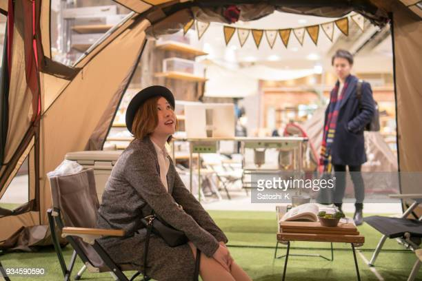 young couple shopping for barbeque party - only japanese stock pictures, royalty-free photos & images