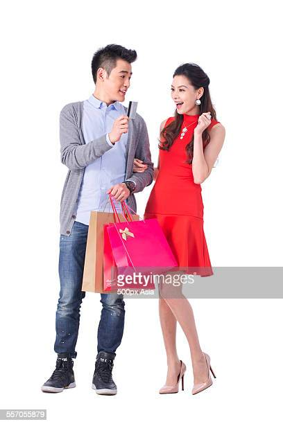 Young Couple Shopping Happily