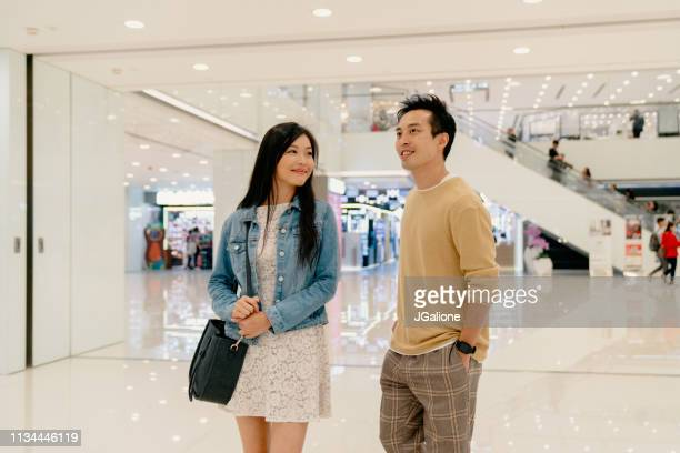 Young couple shopping together
