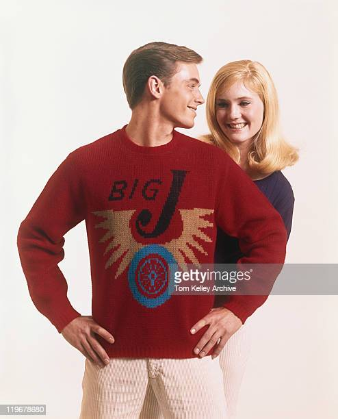 Young couple smiling and looking at each other