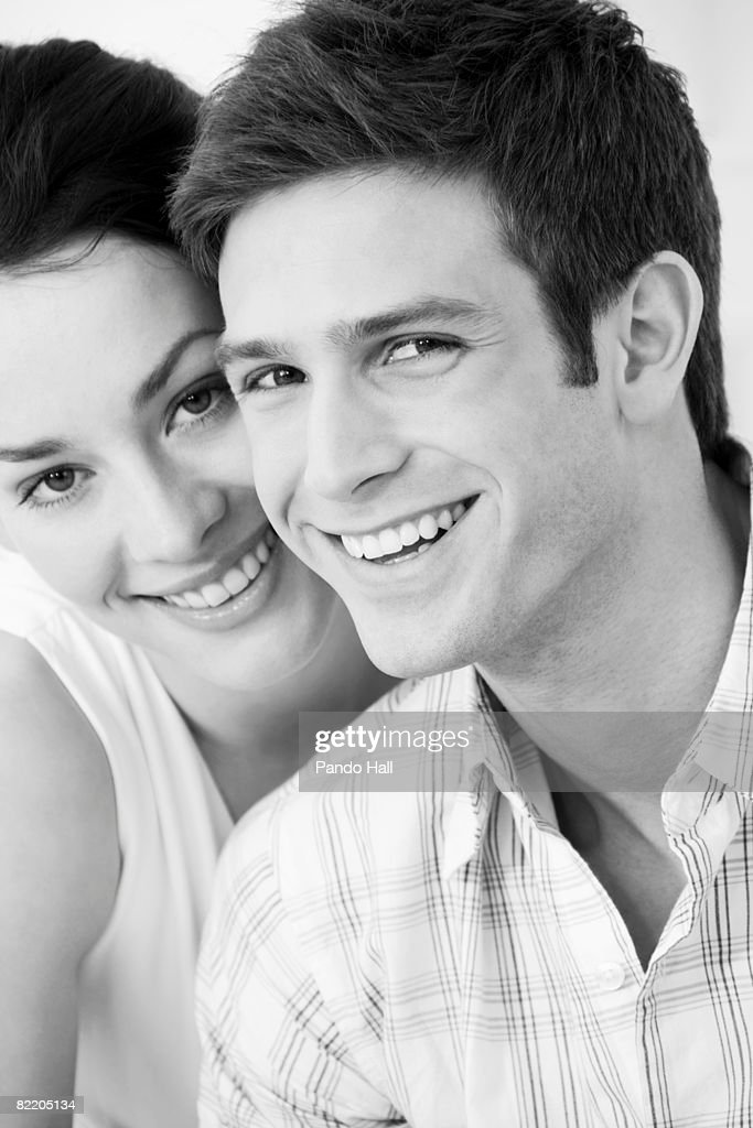 Young couple smiling : Stock Photo